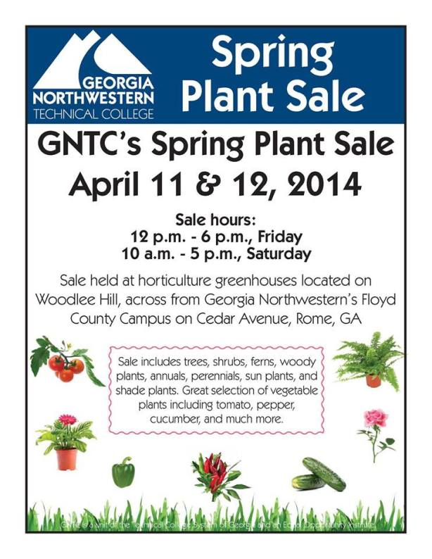 SPRING PLANT SALE at Georgia Northwestern
