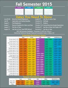 Fall Semester 2015 Important Dates