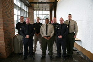 Graduates of GNTC's Law Enforcement Academy, Training Class #201502,are (from left to right) Matthew A. Hicks, Anthony M. Owens, William M. Guthridge, Tyler J. Ware, Mitchell B. Massingill, Bruce W. Brott, II, and David M. Rayborn.