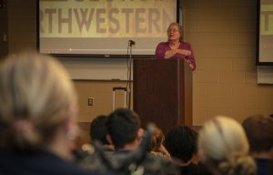 """""""Georgia Northwestern Technical College Dean of Academic Affairs Denise Grant speaks to the orientation session at the 2015 Transition Fair Thursday at GNTC's Walker County Campus."""""""