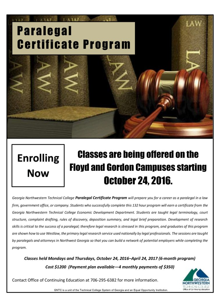 Paralegal Program 2016 Flyer 4 Social Media
