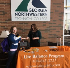 The Life Balance Program visits with students during Spring Fling 2017 on the GCC.