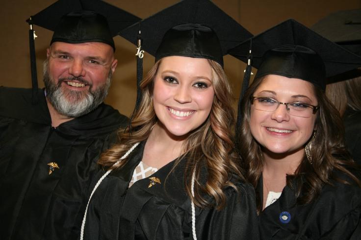 Ron Satterwhite (l), Lauren Sherwood (c), and Peggy Shiflett (r).
